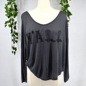 Sweet Claire casual scoop neck southern top L